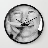 robin williams Wall Clocks featuring Robin Williams Life is a joke by Maioriz Home