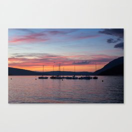 Sunset Lake Annecy Canvas Print