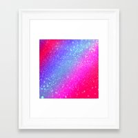 glitter Framed Art Prints featuring glitter by haroulita