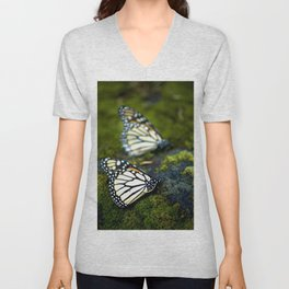 Monarch Butterfies Unisex V-Neck