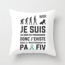 #VagueEspoir Bébé FIV  Throw Pillow
