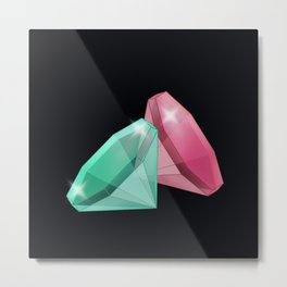 Precious red and green stones . Metal Print