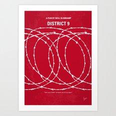 No023 My District 9 minimal movie poster Art Print
