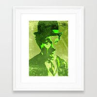 charlie chaplin Framed Art Prints featuring Charlie Chaplin by Pedro Nogueira