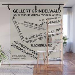 1926 Wizard Newspaper Headlines - Grindelwald Wall Mural