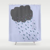 cloud Shower Curtains featuring Cloud by BlackBlizzard