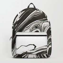 Black agate slice Backpack