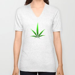 leaf of grass Unisex V-Neck