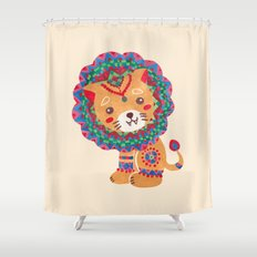The Little King of the Jungle Shower Curtain
