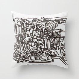 Lower Manhattan Line Throw Pillow