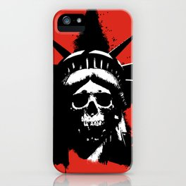 Statue of Liberty Skull iPhone Case