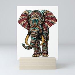 Ornate Elephant (Color Version) Mini Art Print