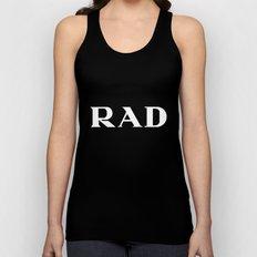 Rad Black Typography Unisex Tank Top