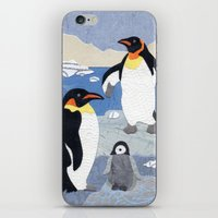 penguins iPhone & iPod Skins featuring Penguins by gnarlycat