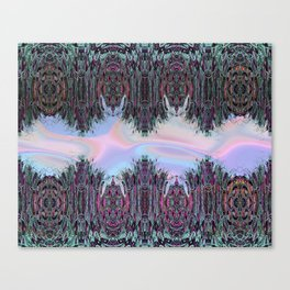 Holographic Embroidery Fringe Print Canvas Print