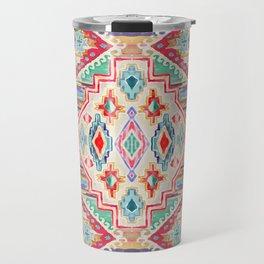 Watercolor Aztek Rug #22 Travel Mug