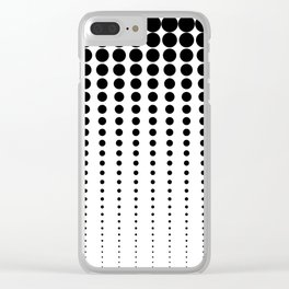 Reduced Black Polka Dots on Solid White Background Minimal Graphic Design Clear iPhone Case