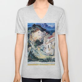 Chaim Soutine - View of Cagnes - Digital Remastered Edition Unisex V-Neck