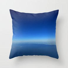 Minimal blue Throw Pillow