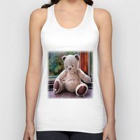teddy bear Tank Tops featuring Teddy Bear  by Fran Walding