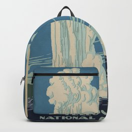 Vintage American WPA Poster - Yellowstone National Park (1938) Backpack