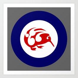 Kiwi Air Force Roundel Art Print