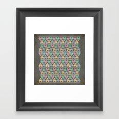 Triangulate 3 / Neon Midnight Framed Art Print