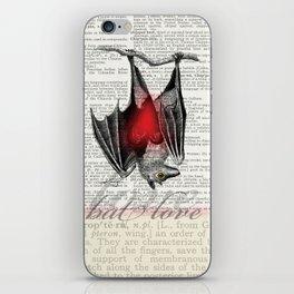 Bat Love by Kathy Morton Stanion iPhone Skin