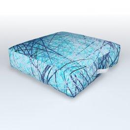 World Wide Web White & Blue Outdoor Floor Cushion