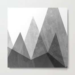 Mountains - Black and White Metal Print