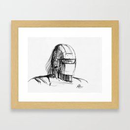 Warbot Sketch #006 Framed Art Print