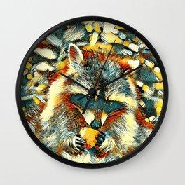 AnimalArt_Raccoon_20170901_by_JAMColorsSpecial Wall Clock