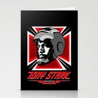 tony stark Stationery Cards featuring Tony Stark by Ant Atomic