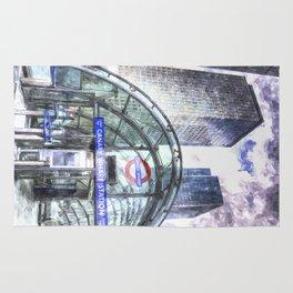 Canary Wharf  London Rug