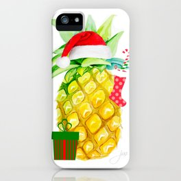 holiday pineapples iPhone Case