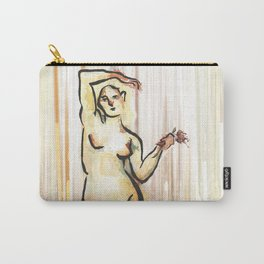 She Grieves, Standing Nude Carry-All Pouch