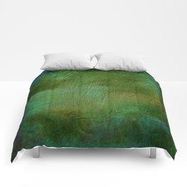 Shades of Deep Green Texture Comforters