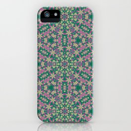 YELLO! Pink Flowers On The Lawn iPhone Case