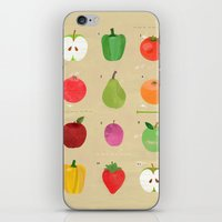 fruit iPhone & iPod Skins featuring Fruit by Jessie Ford