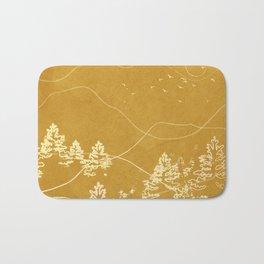 Minimalist Landscape Line Art III Bath Mat