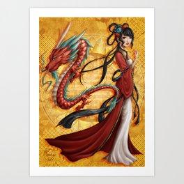 Chinese dragon Art Print