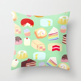 Cakes for days Throw Pillow