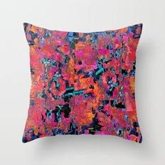 Orange camouflage I Throw Pillow