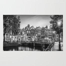 AMSTERDAM Idyllic impression from Singel   Monochrome Rug