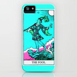 0. The Fool- Neon Dreams Tarot iPhone Case