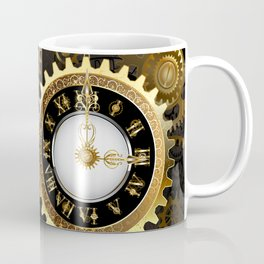 Antique Clock with Keys ( Steampunk ) Coffee Mug