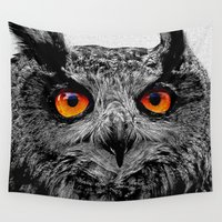 patrick Wall Tapestries featuring YOU'RE THE ORANGE OF MY EYES by Catspaws