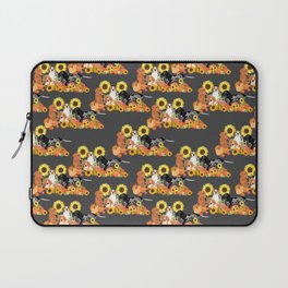 Coonhound Autumn Harvest Grey Laptop Sleeve