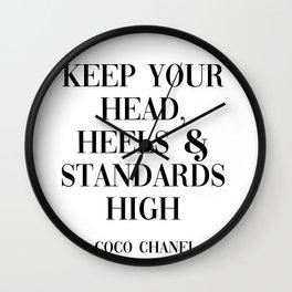coco quote Wall Clock