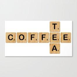 Scrabble - Coffee & Tea Canvas Print